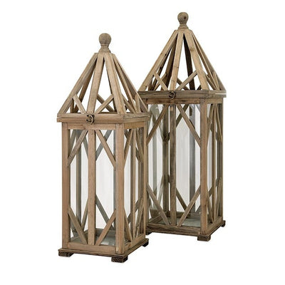 Gwinnett Wood Lantern Small