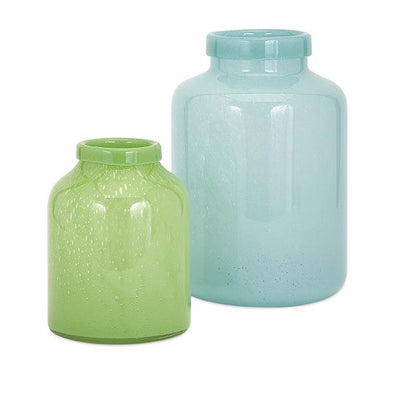Bingham Blue Glass Jar