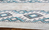 Lasso Light Gray/Teal/Gray Area Rug