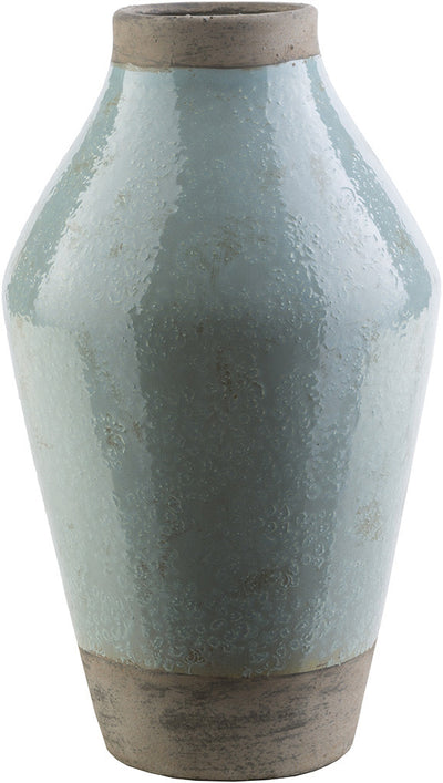 Leclair Ceramic Vase Blue/Gray