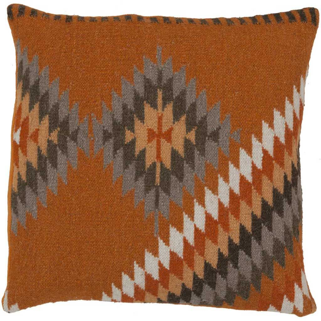 Tranquil Tribal Burnt Orange/Tan Pillow