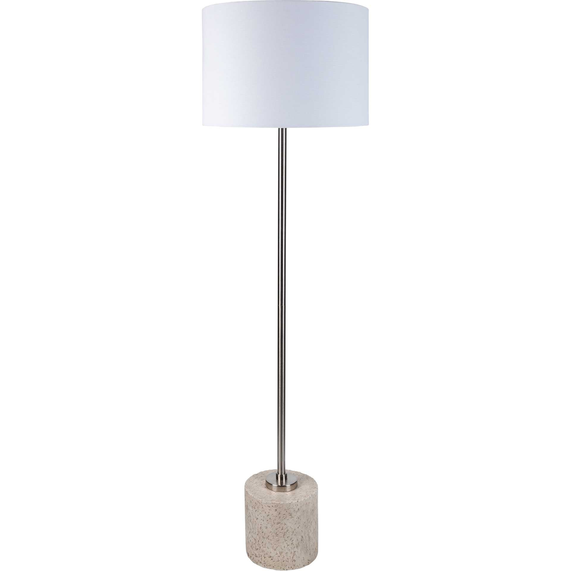 Leah Floor Lamp White/Silver
