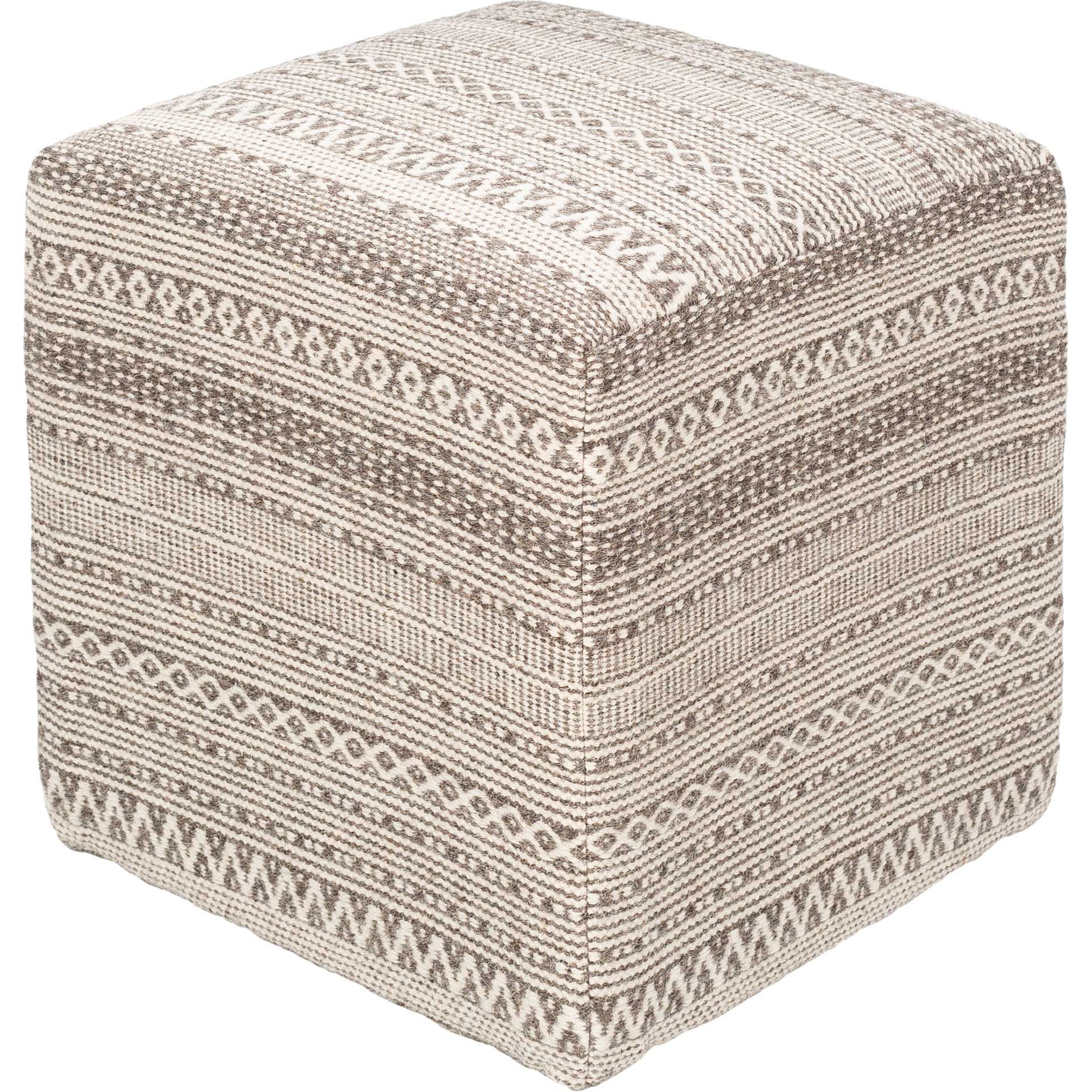 Leandro Pouf Taupe/Ivory