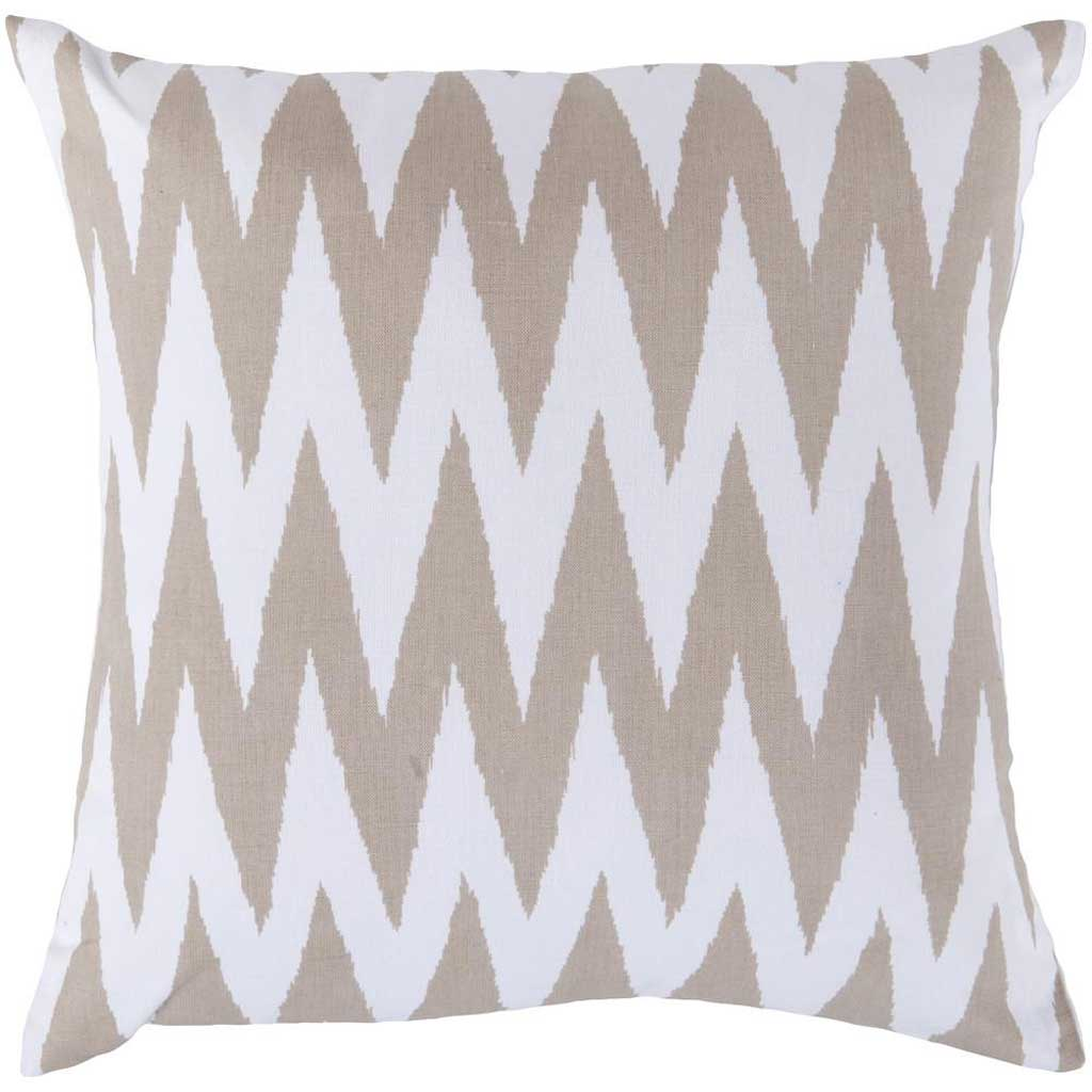 Eye-Catching Chevron Ivory/Olive Pillow