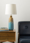 Lagoon Blue/Brown Table Lamp