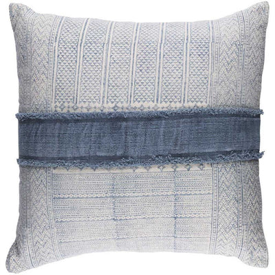 Lola Center Ivory/Slate Pillow