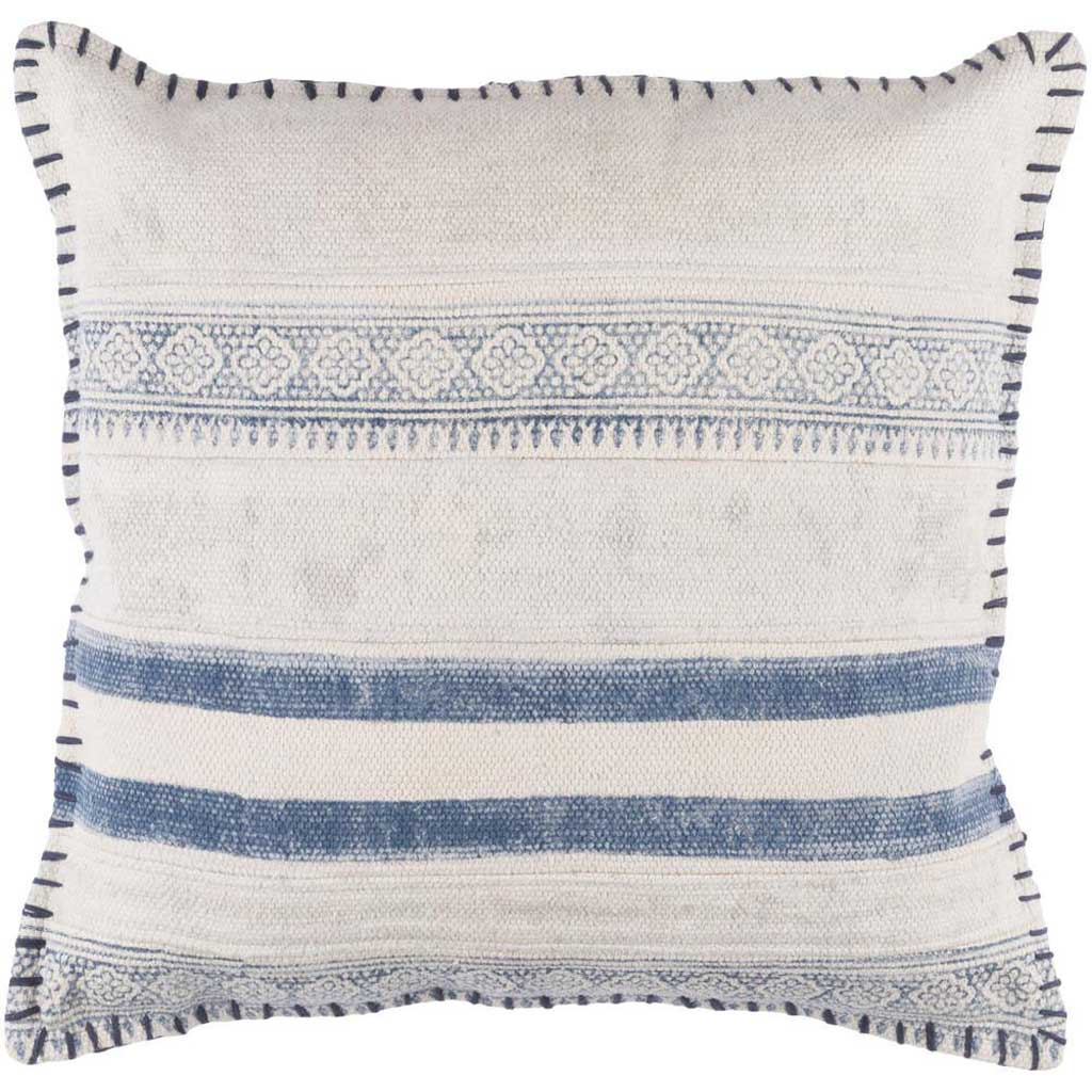 Lola Striped Ivory/Slate Pillow