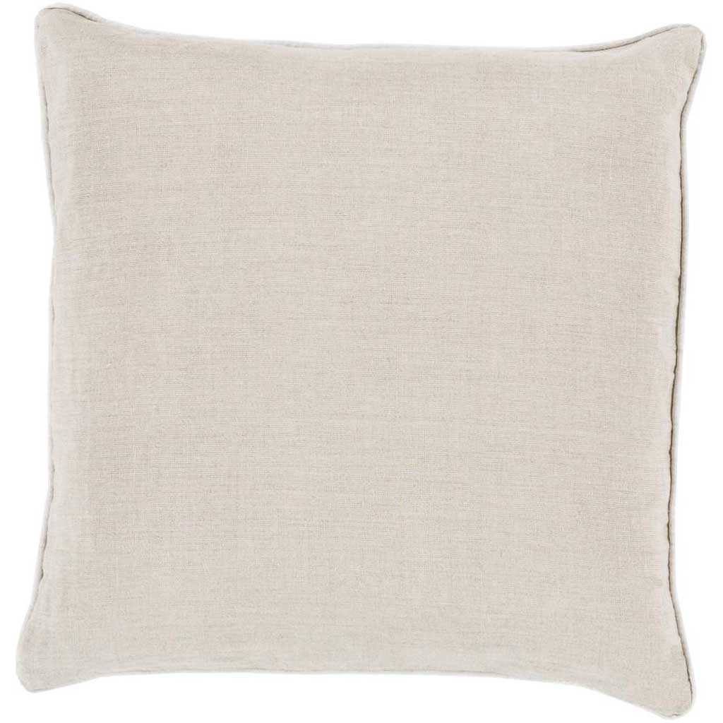 Brilliantly Bordered Light Gray/Ivory Pillow