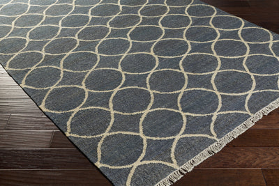 Laural Peace Ivory/Navy Area Rug