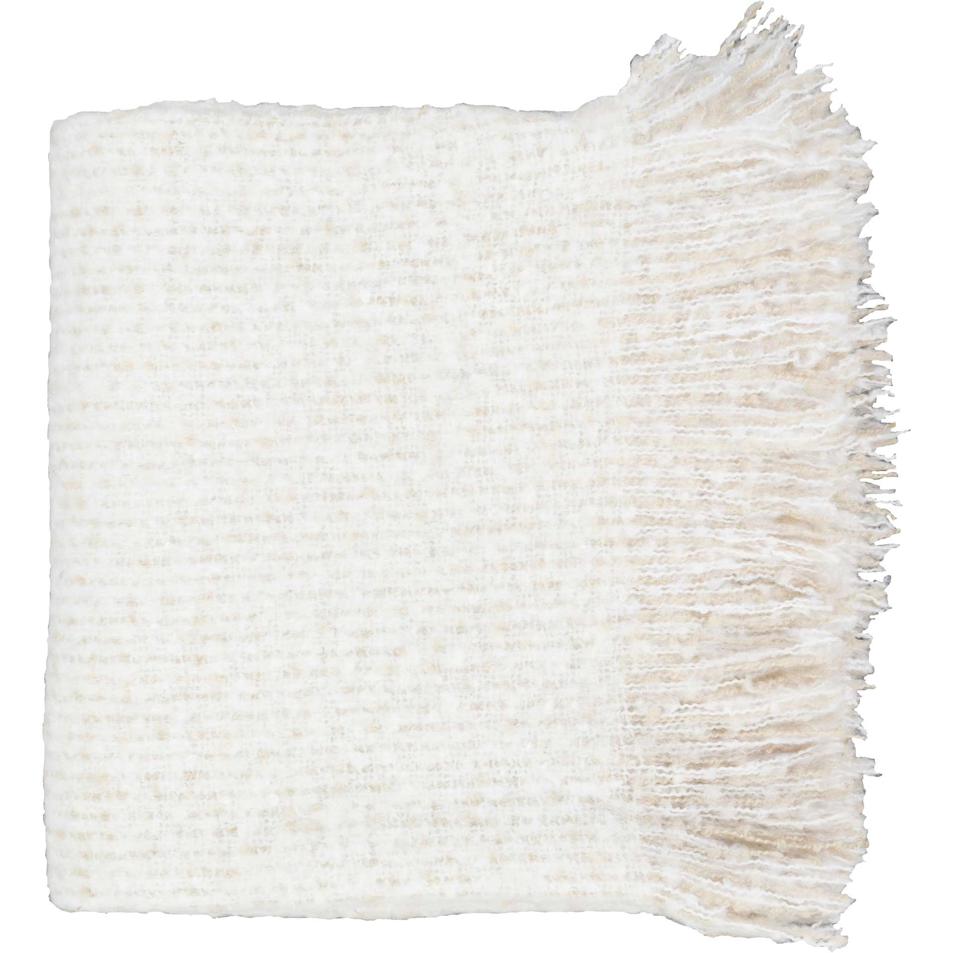Madurai White/Beige Throw
