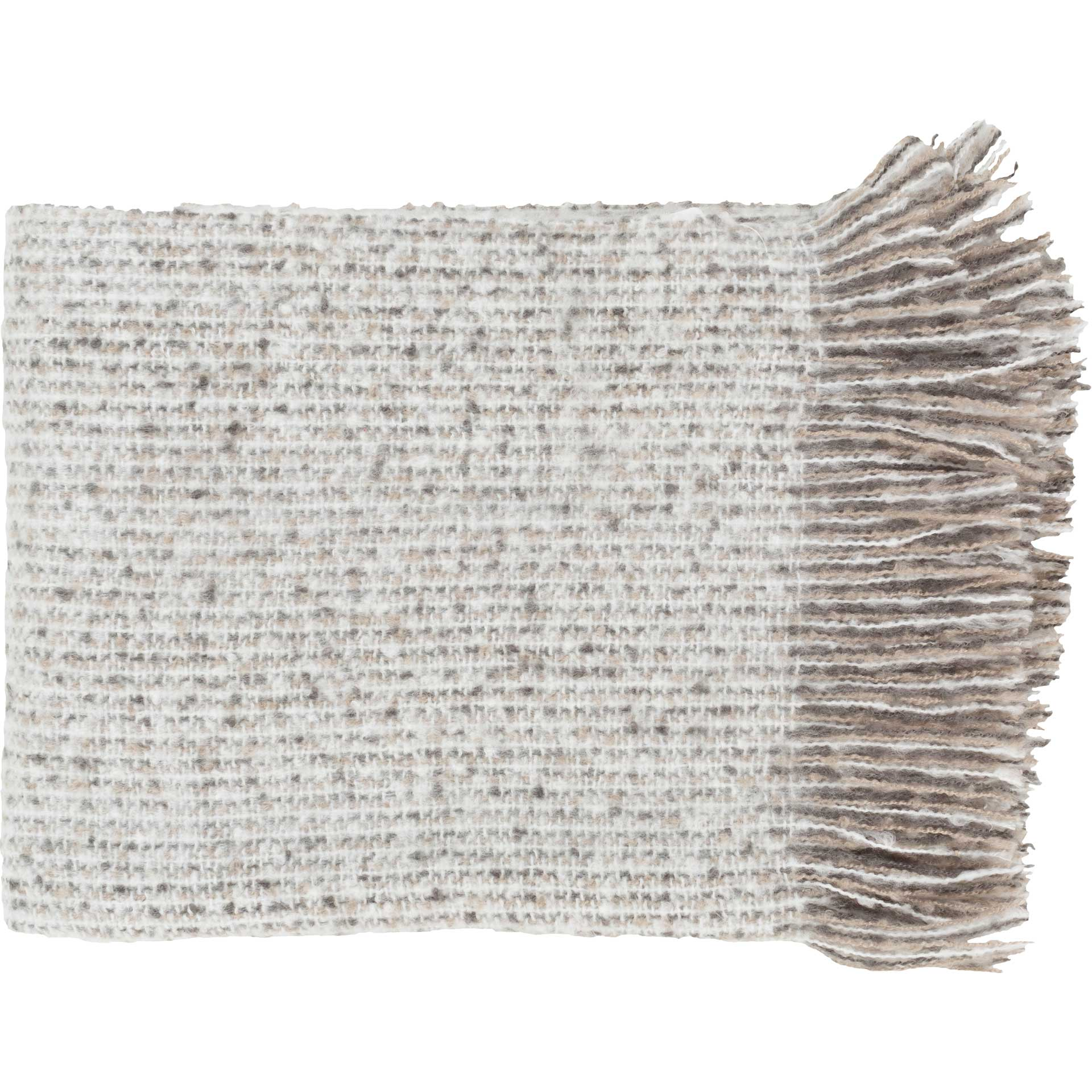 Mabel Throw Taupe/White/Charcoal