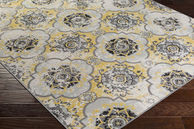 Mavrick Beige/Gold/Gray Area Rug