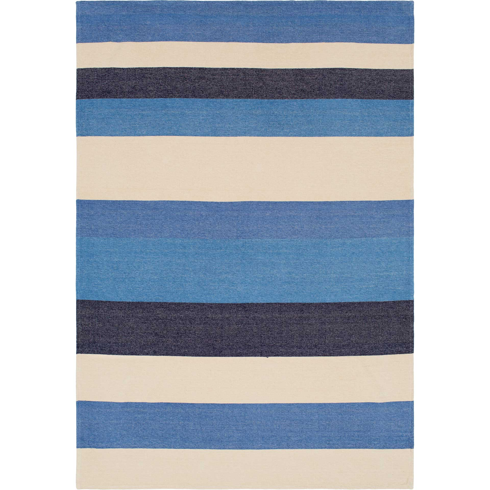 Meera Throw Bright Blue/Navy/Beige
