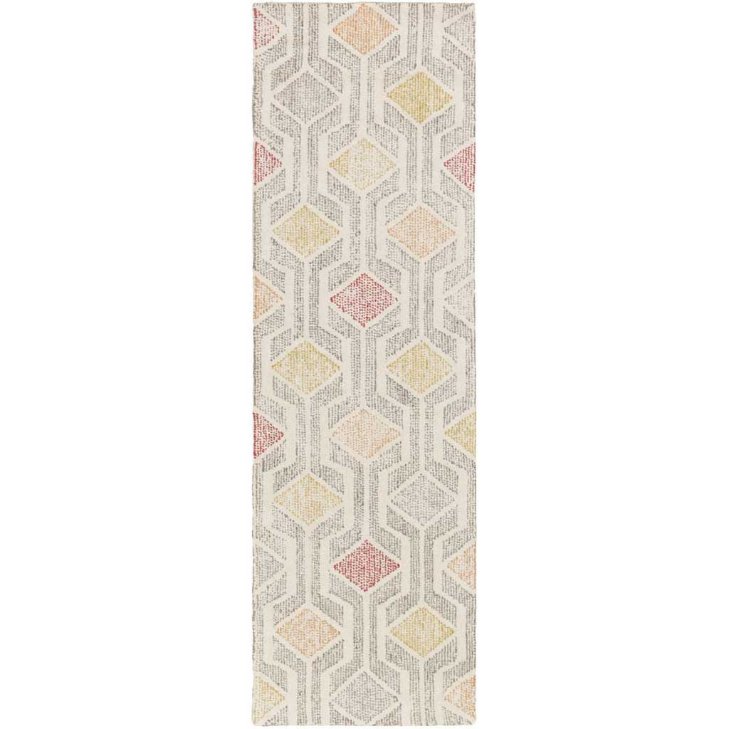 Melody Ivory/Gray/Cherry Runner Rug