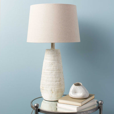 Morello Table Lamp Ivory/White/Natural
