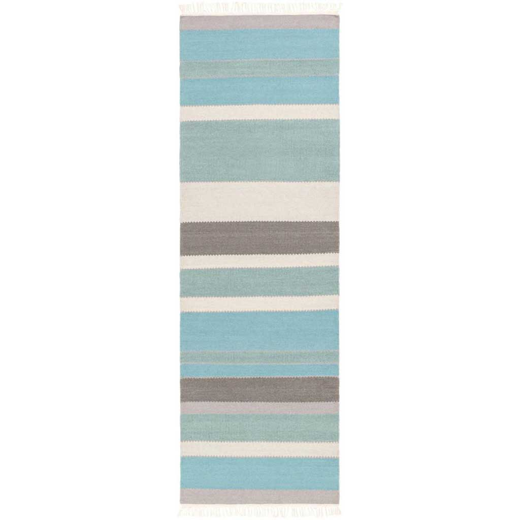 Miguel Teal/Charcoal/Light Gray Runner Rug
