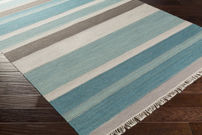 Miguel Teal/Charcoal/Light Gray Area Rug