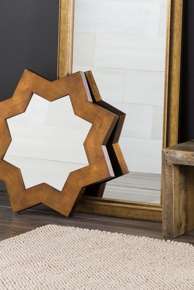 Octagram Aged Gold Wall Mirror
