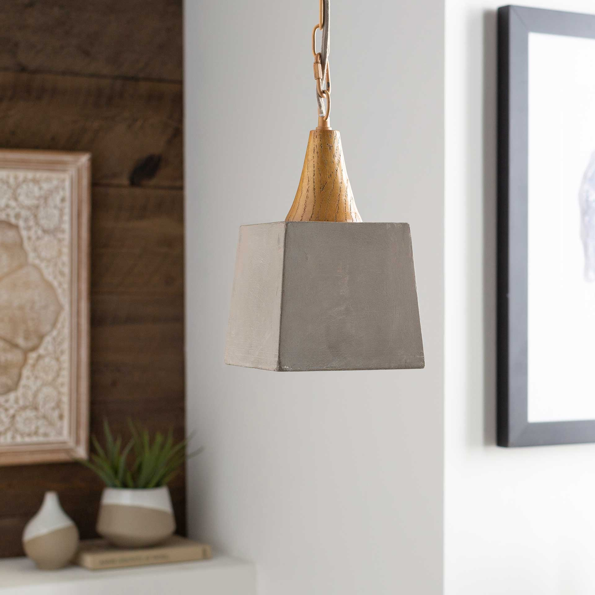 Mosella Geometric Ceiling Lamp Natural