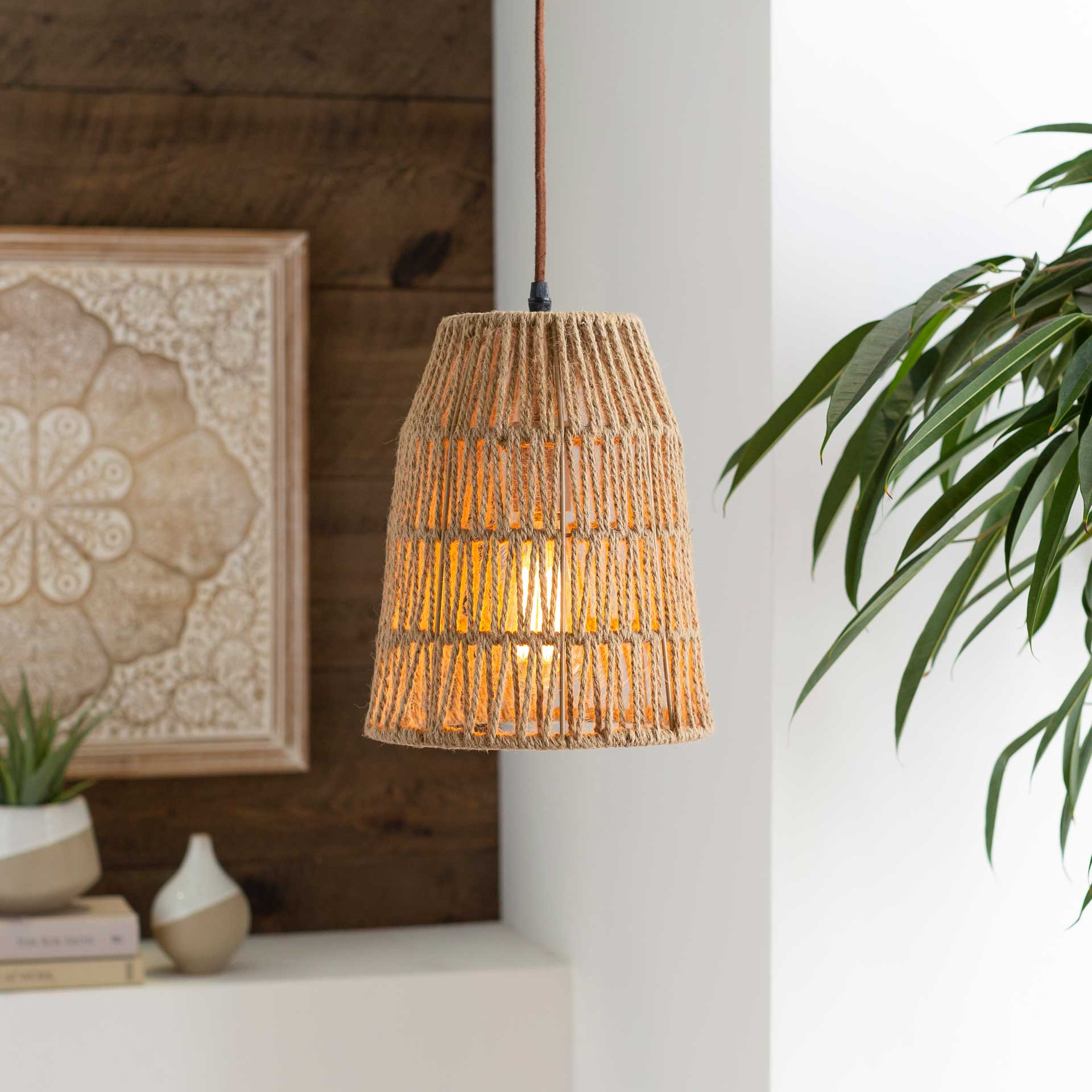 Madison Rope Ceiling Lamp Natural