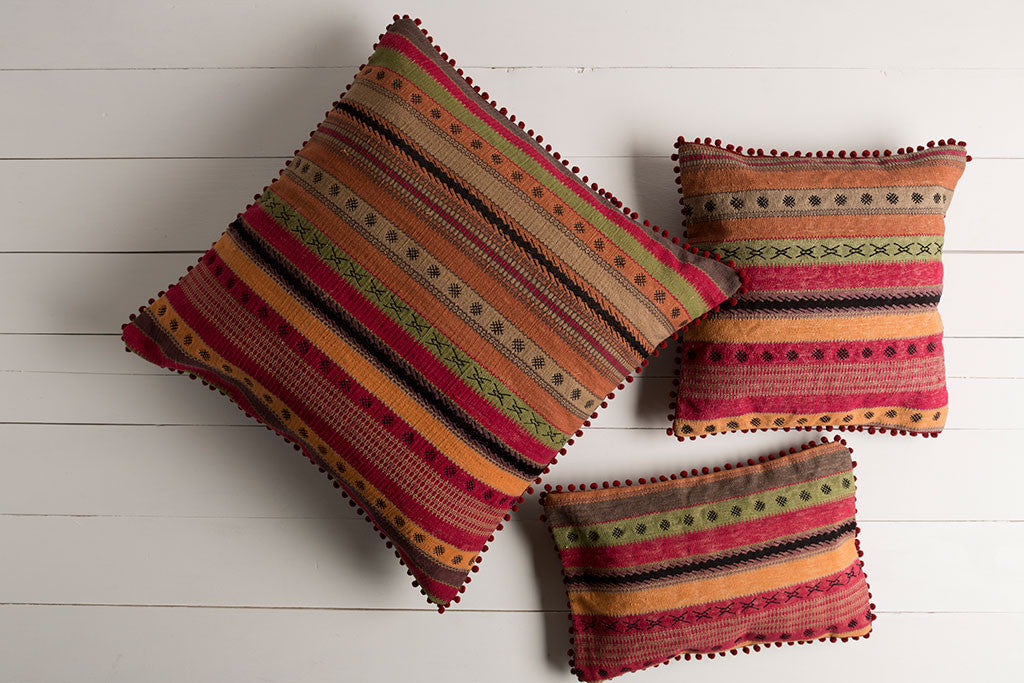 Marrakech Burnt Orange/Forest Pillow