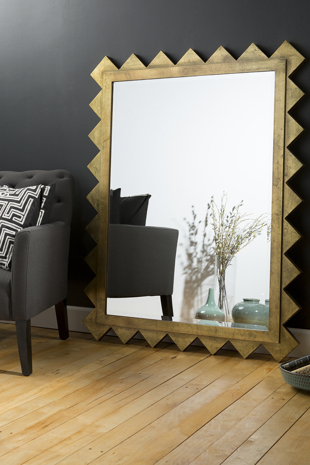 Zaragon Brilliant Gold Wall Mirror