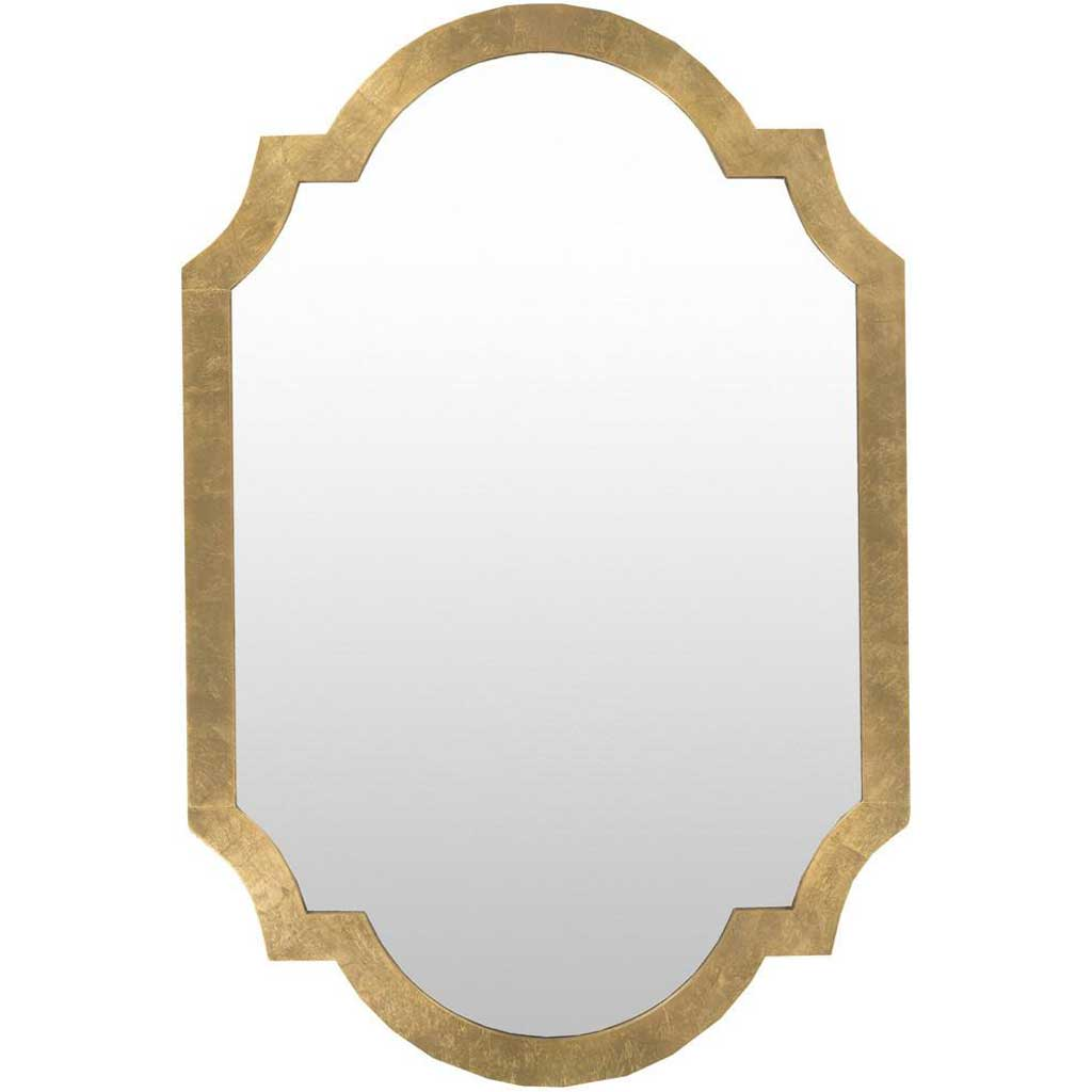 Paris Aged Gold Wall Mirror