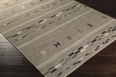 Montezuma Gray/Chocolate Area Rug