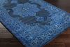 Mykonos Blue/Dark Gray Area Rug