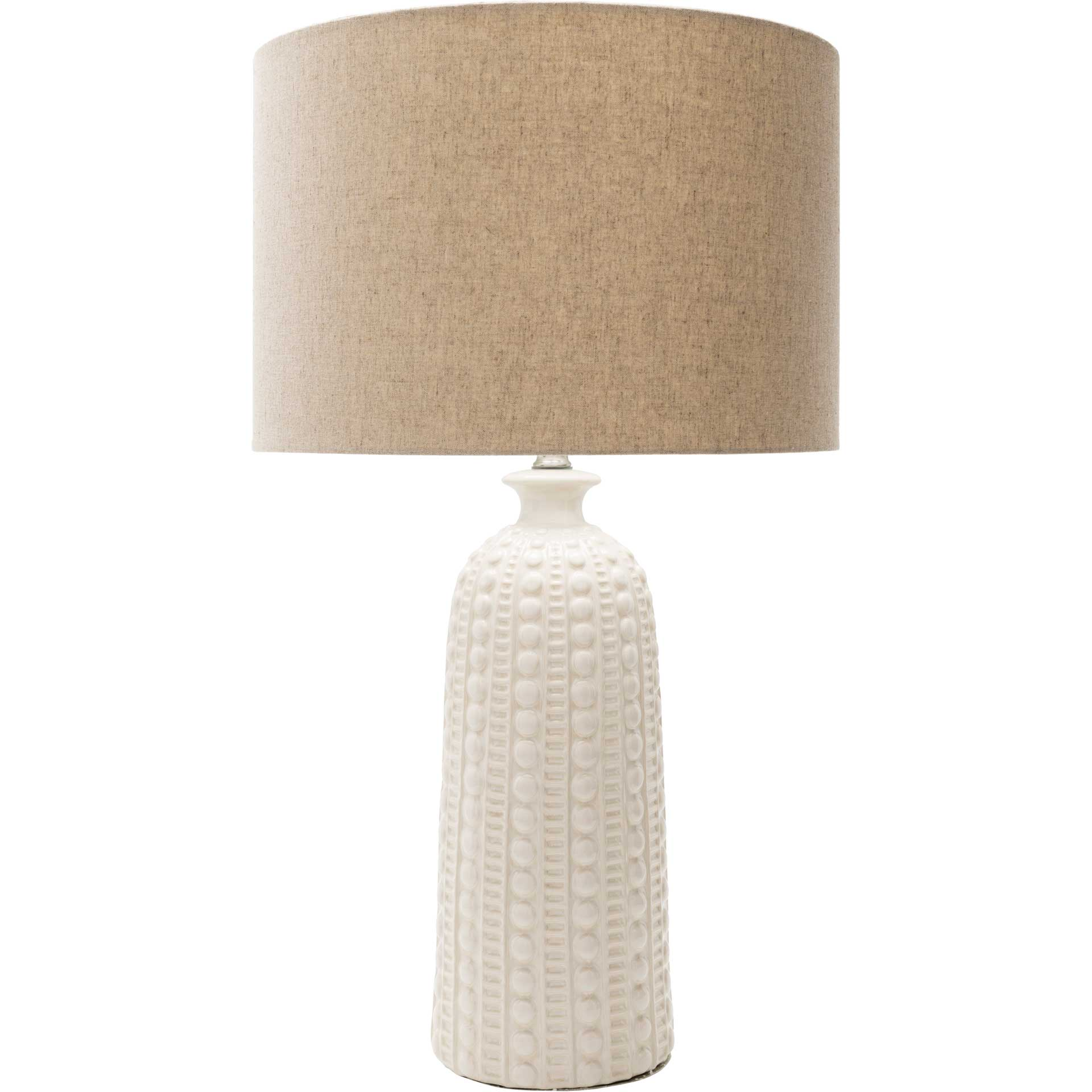 Nelson Table Lamp Camel/White/Ivory