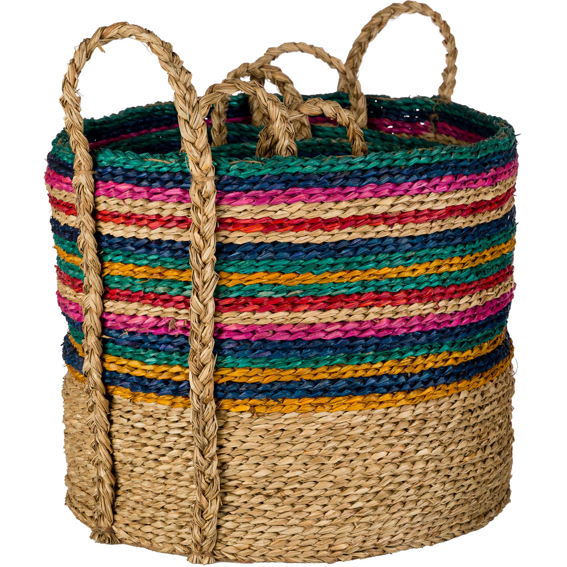 Nana Basket Emerald/Dark Blue/Bright Pink