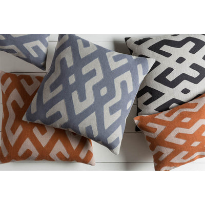 Nairobi Lattice Charcoal/Light Gray Pillow