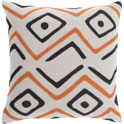 Nairobi Light Gray/Rust/Black Pillow