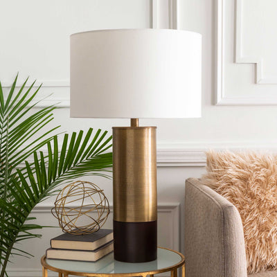 Nevaeh Table Lamp White/Brass/Brown