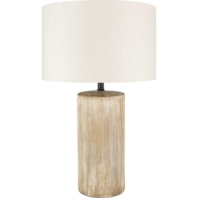 Noah Table Lamp Khaki/White/Natural