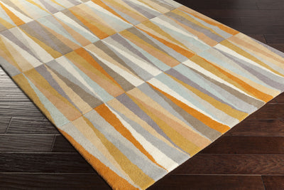 Oasis Light Gray/Burnt Orange Area Rug