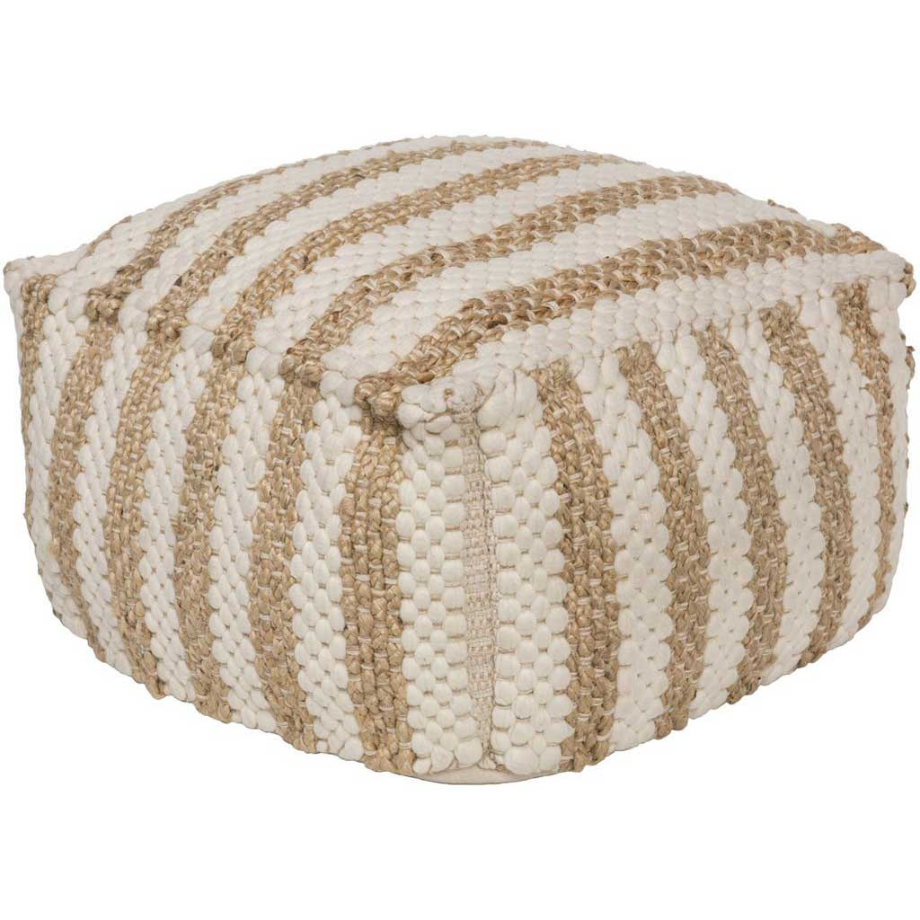 Oak Cove Cube Cloud/Khaki Pouf