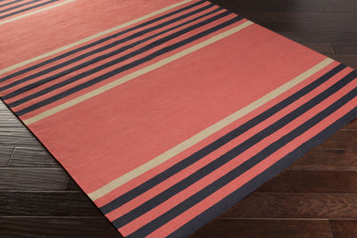 Oxford Coral/Black Area Rug
