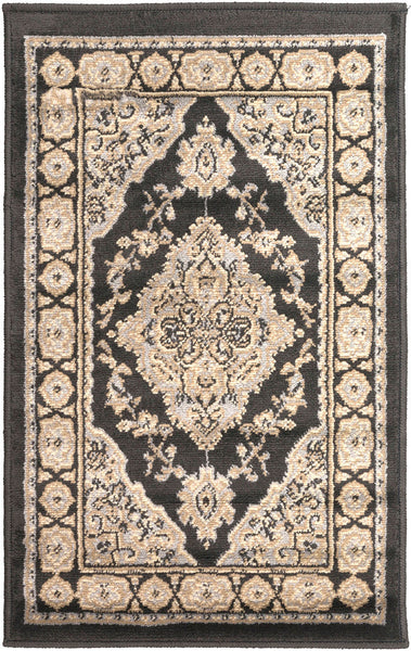 Paramount Light Gray Charcoal Olive Area Rug Froy