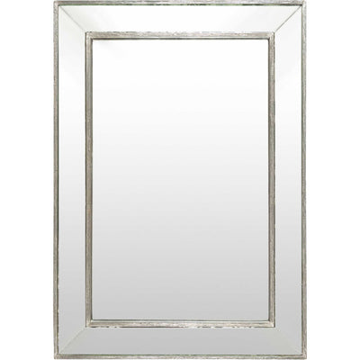 Pedro Distressed Mirror Silver