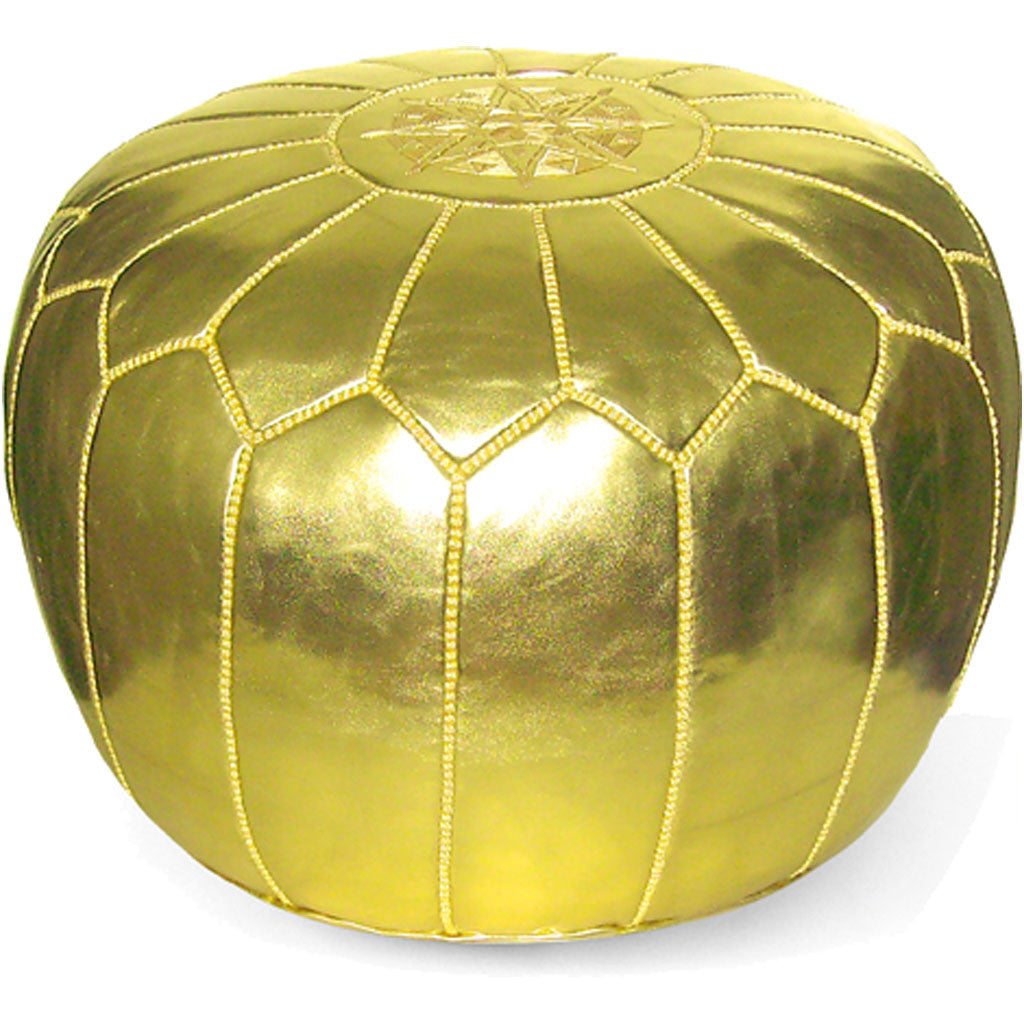 Moroccan Pouf Gold - FROY