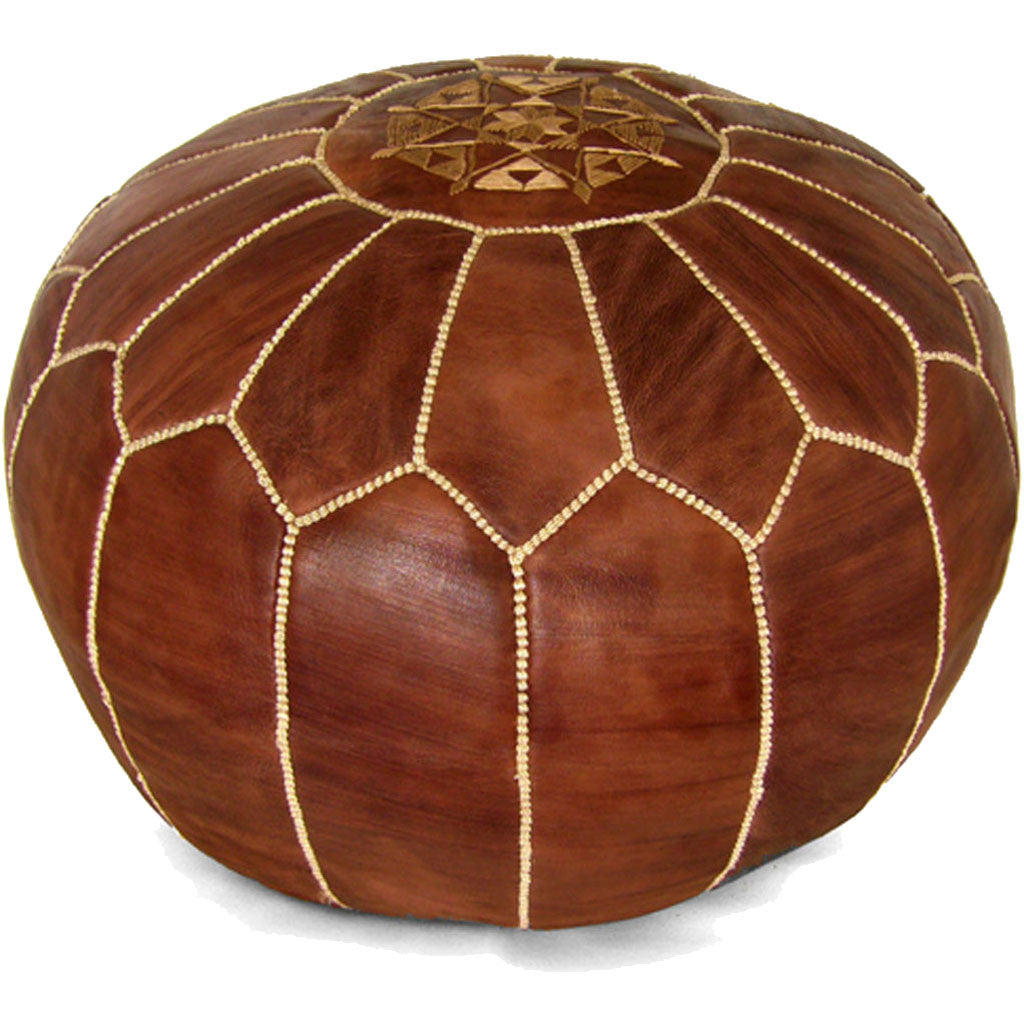 Moroccan Pouf Brown