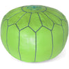 Moroccan Pouf Lime Green