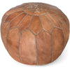 Moroccan Pouf Dark Tan