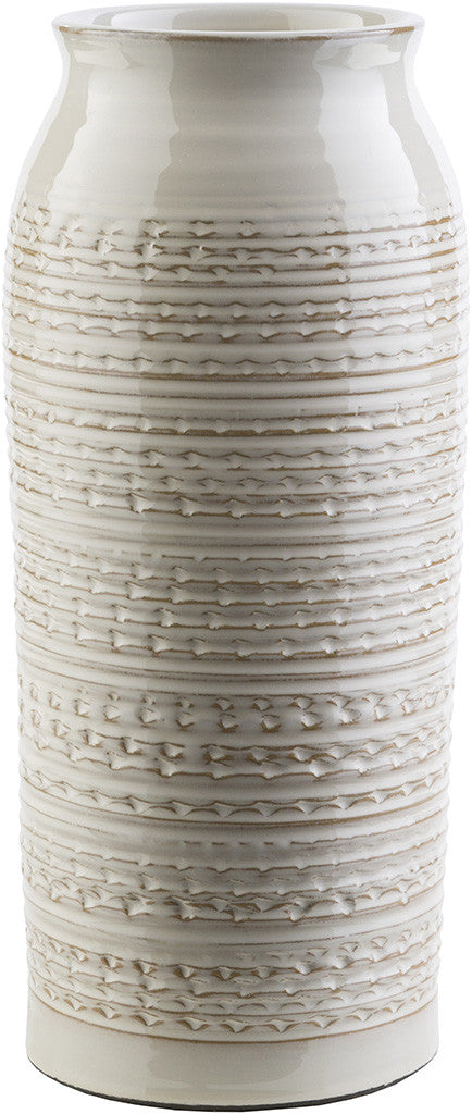 Piccoli Ceramic Table Vase Beige