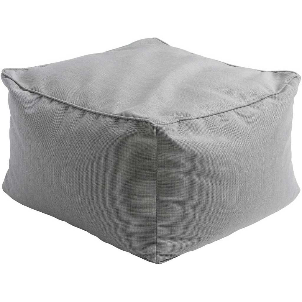 Piper Solid Gray Cube Pouf