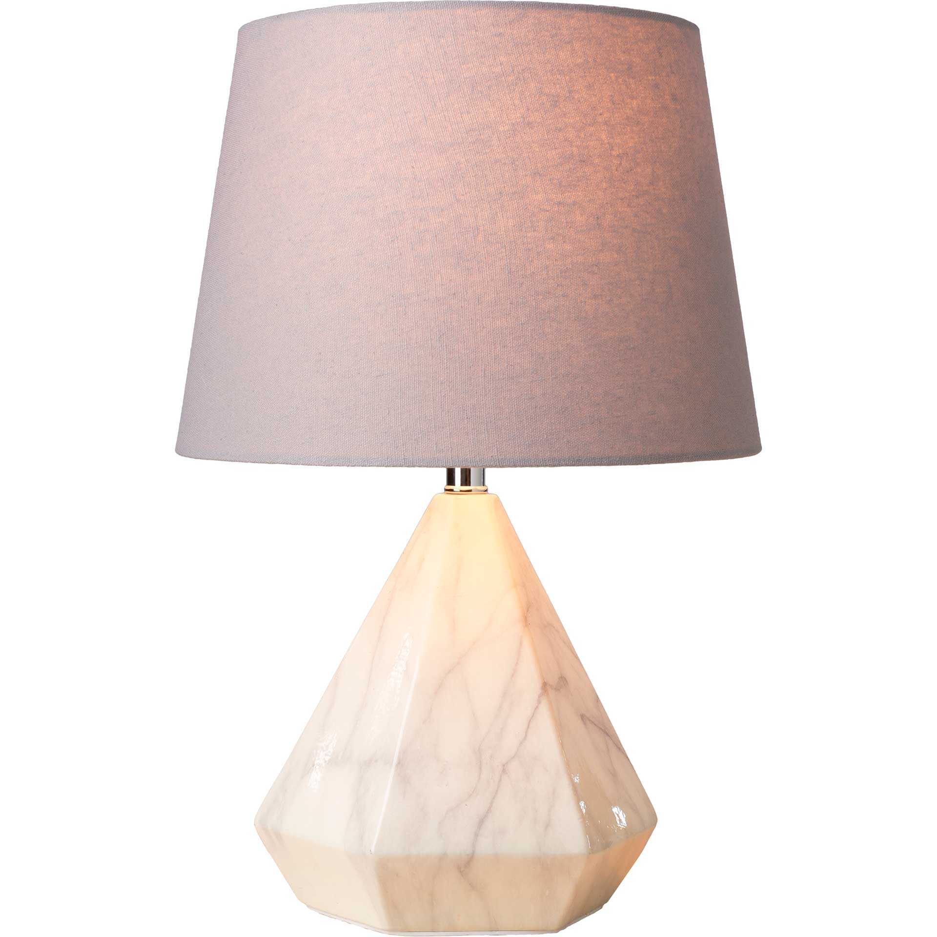 Presley Table Lamp Light Gray/White
