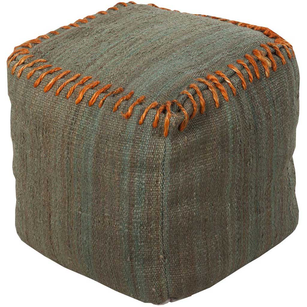 Standard Medium Gray/Bright Orange Pouf
