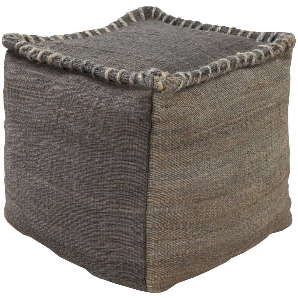 Standard Charcoal/Medium Gray Pouf
