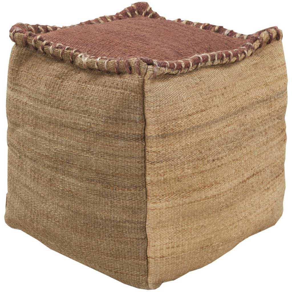 Standard Camel/Burnt Orange Pouf